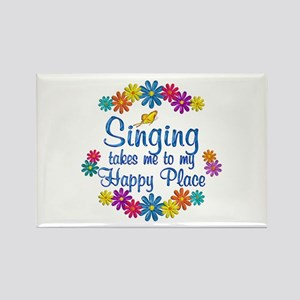 Singing Happy Place Rectangle Magnet