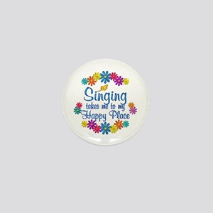 Singing Happy Place Mini Button