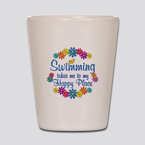 Swimming Happy Place Shot Glass