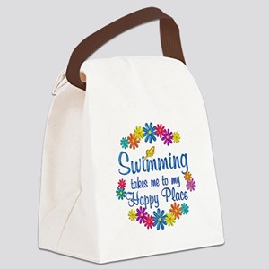 Swimming Happy Place Canvas Lunch Bag