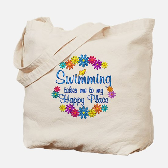 Swimming Happy Place Tote Bag