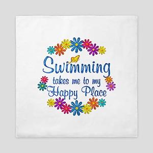 Swimming Happy Place Queen Duvet