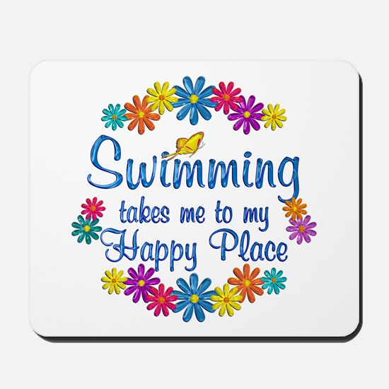 Swimming Happy Place Mousepad