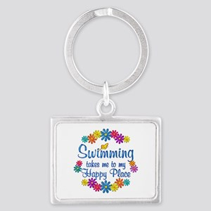 Swimming Happy Place Landscape Keychain