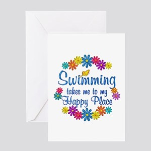 Swimming Happy Place Greeting Card