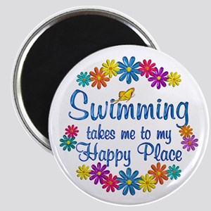 Swimming Happy Place Magnet