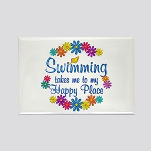 Swimming Happy Place Rectangle Magnet