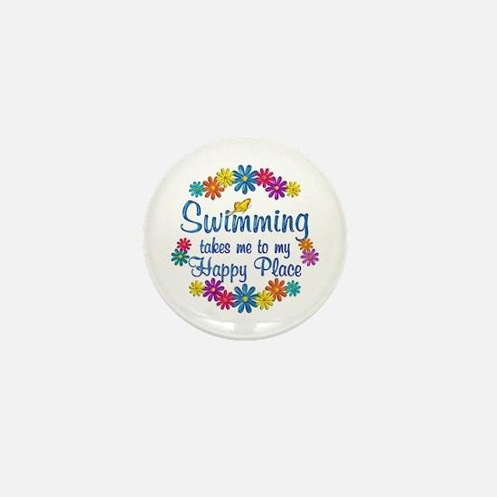 Swimming Happy Place Mini Button