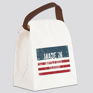 Made in Buffalo Creek, Colorado Canvas Lunch Bag