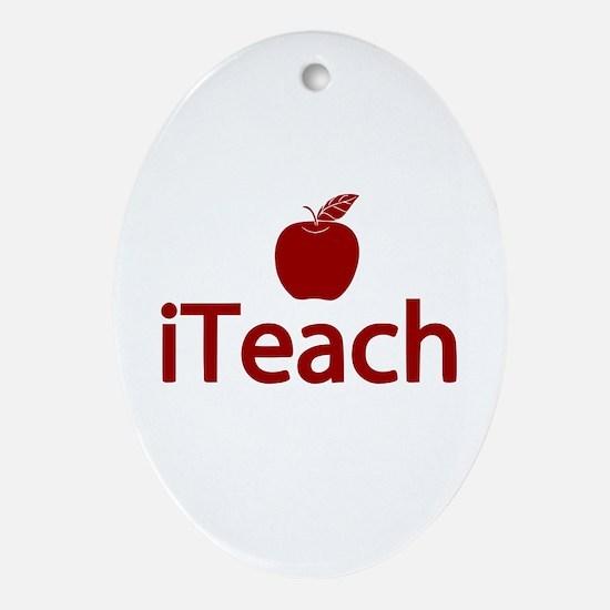 Fun iTeach Ornament (Oval)