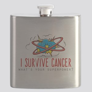 I Survive Cancer Flask
