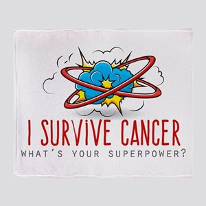 I Survive Cancer Throw Blanket