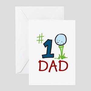 #1 Dad Greeting Cards