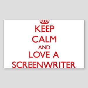 Keep Calm and Love a Screenwriter Sticker