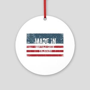 Made in Buffalo Creek, Colorado Round Ornament