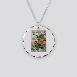 Samurai Kato Kiyomasa Necklace Circle Charm