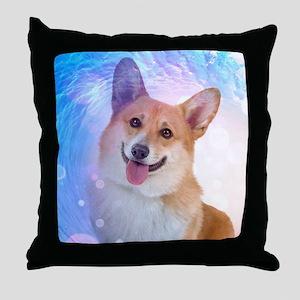 Smiling Corgi Throw Pillow
