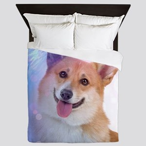 Smiling Corgi Queen Duvet