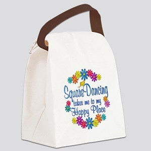 Square Dancing Happy Place Canvas Lunch Bag