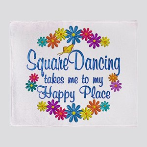 Square Dancing Happy Place Throw Blanket
