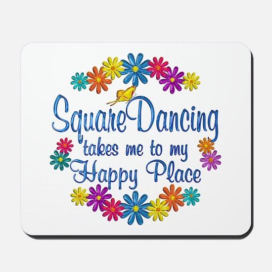 Square Dancing Happy Place Mousepad