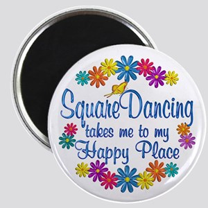 Square Dancing Happy Place Magnet