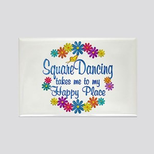 Square Dancing Happy Place Rectangle Magnet