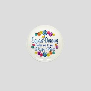 Square Dancing Happy Place Mini Button