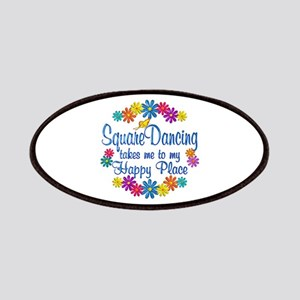 Square Dancing Happy Place Patches