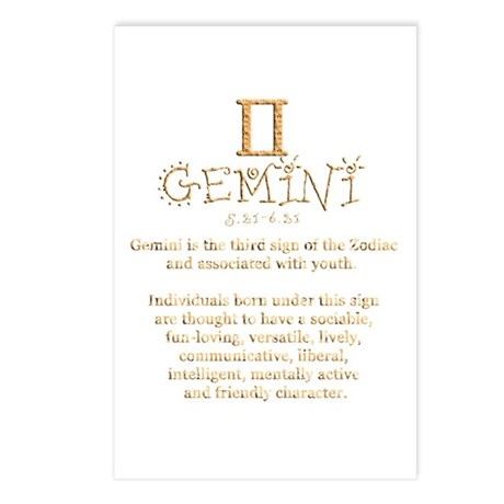 Gemini Postcards (Package of 8)