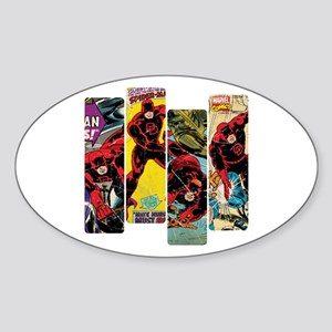 Daredevil Comic Panels Sticker (Oval)