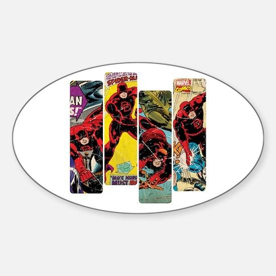 Daredevil Comic Panels Sticker (Oval)