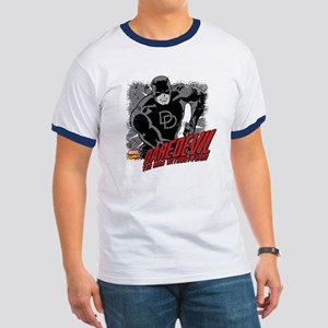 Daredevil Black and White Ringer T