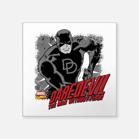 """Daredevil Black and White Square Sticker 3"""" x 3"""""""