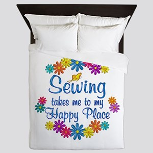 Sewing Happy Place Queen Duvet