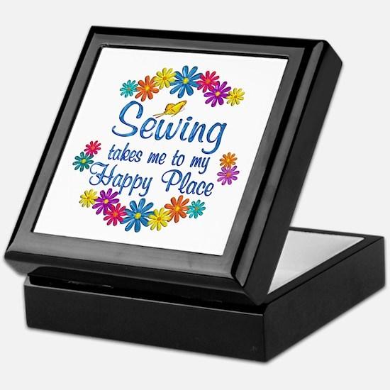 Sewing Happy Place Keepsake Box