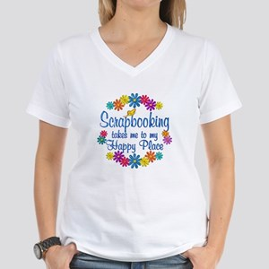 Scrapbooking Happy Place Women's V-Neck T-Shirt