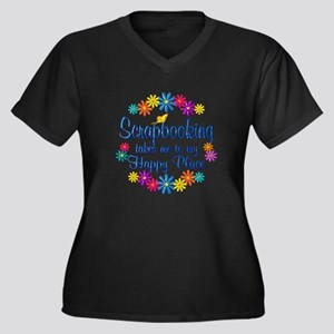 Scrapbooking Women's Plus Size V-Neck Dark T-Shirt