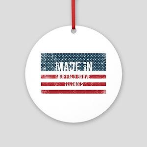 Made in Buffalo Grove, Illinois Round Ornament