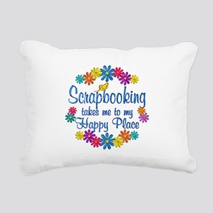 Scrapbooking Happy Place Rectangular Canvas Pillow