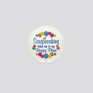 Scrapbooking Happy Place Mini Button