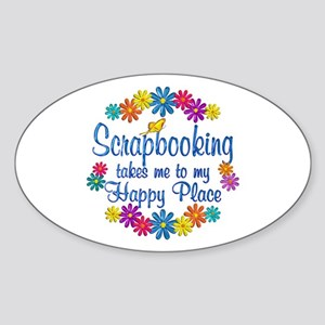 Scrapbooking Happy Place Sticker (Oval)