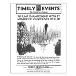 Small Poster - Beaver Lake Jump Snoqualmie Pass