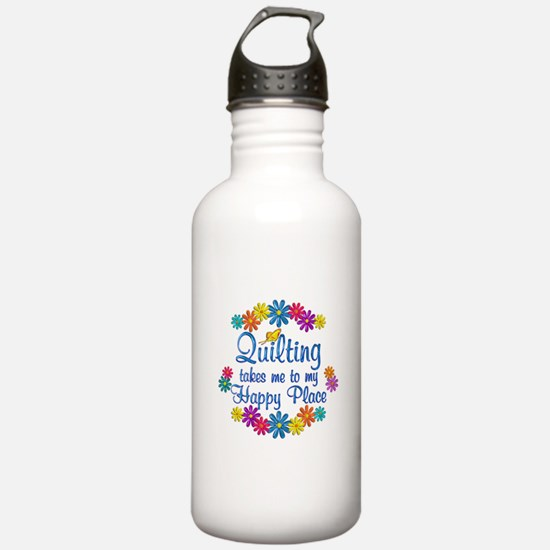 Quilting Happy Place Water Bottle