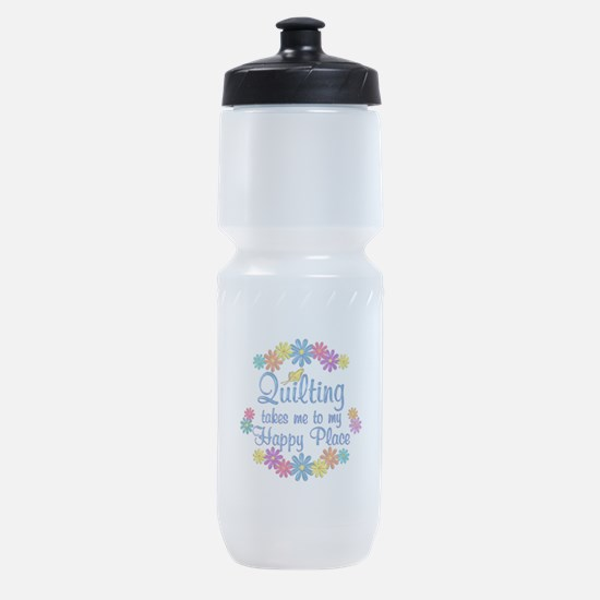 Quilting Happy Place Sports Bottle