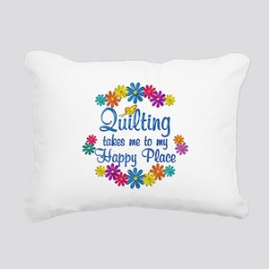 Quilting Happy Place Rectangular Canvas Pillow