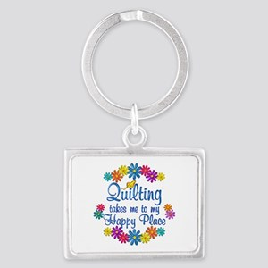 Quilting Happy Place Landscape Keychain