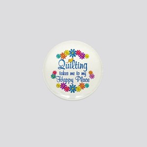 Quilting Happy Place Mini Button