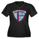 USS MIDWAY Women's Plus Size V-Neck Dark T-Shirt