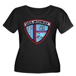 USS MIDW Women's Plus Size Scoop Neck Dark T-Shirt